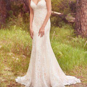 Maggie Sottero NOLA Lace Wedding Dress Champagne